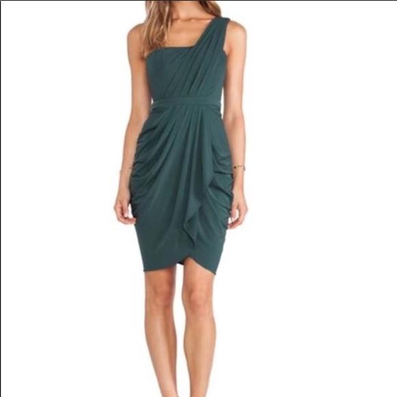 BCBG Dresses & Skirts | Forest Green Cocktail Dress | Poshmark